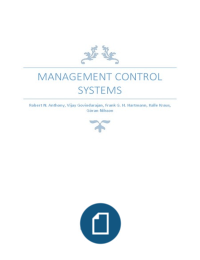 SUMMARY: Management control systems