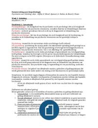 SUMMARY: Samenvatting Psychopathologie (TP2CPATH)