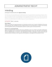 SAMENVATTING: Praktisch administratief recht 2015