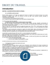 NOTES DE COURS: Cours L3 - S1 - DROIT DU TRAVAIL, LES RELATIONS COLLECTIVES