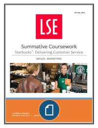 CASE: Starbucks: Delivering Customer Service