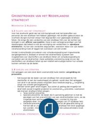 SUMMARY: SV grondtrekken van het Nederlandse strafrecht