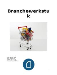 OTHER: branche werkstuk, supermarkt/voedsel en levensmiddelen