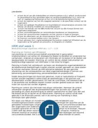 SUMMARY: HRM blok 3 deeltoets 1 samenvatting (verzuim)