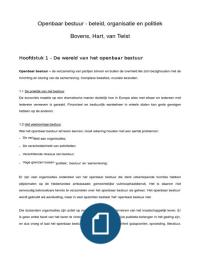 SUMMARY: IBO samenvatting - Openbaar Bestuur, Bovens