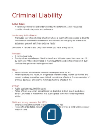 criminal liability and the use of