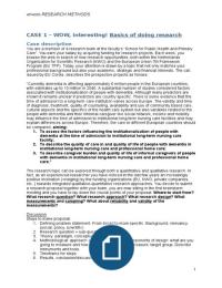 SAMENVATTING: HPI4005 Research Methods