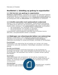 SAMENVATTING: Gedrag in Organisaties Robbins 12e Editie