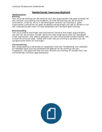 SAMENVATTING: Examenstof leesvaardigheid Nederlands VWO