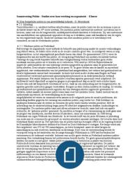 SAMENVATTING: Samenvatting verplichte hoofdstukken uit Kluwer: Politie, studies over haar werking en organisatie