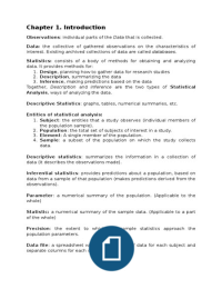 SAMENVATTING: Statistical Methods for the Social Sciences, chapters 1-6 and 9-11, by Agresti & Finlay