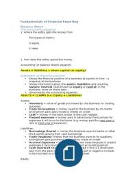 Exam: Fundamentals of Finacial Reporting BMAN10621 Revision