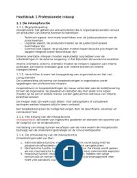 SUMMARY: Professioneel Inkopen H1,2,3,4,9,10,11 en 12