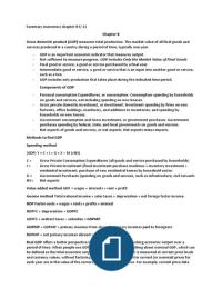 SAMENVATTING: Macroeconomics detailed summary chapter 8 until 11 IFA B-cluster