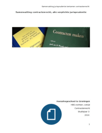 SAMENVATTING: Samenvatting ALLE jurisprudentie contractenrecht 2016