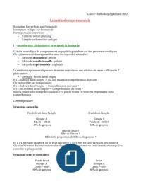 LECTURE NOTES: L1 S2 COURS METHODOLOGIE SPECIFIQUE COMPLET