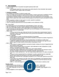 Exam: Three Certainties Equity and Trust Exam Notes