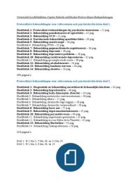 SUMMARY: Samenvatting Protocollaire Behandelingen voor volwassenen met psychische klachten deel 1 en 2 (LET OP: niet alle hoofdstukken!)