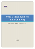unit 1 business environment essay Unit one principles of personal responsibilities and working in a business environment assessment you should use this file to complete your assessment the.