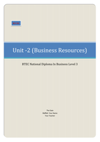ESSAY: BTEC Business Unit 2, Busness Resources M3 D2 (Interpret the contents of a trading and profit and loss account and balance sheet for a selected company explaining how accounting ratios can be used to monitor the financial performance of the organisation)