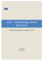 ESSAY: BTEC Business Unit 36, Starting a Small Business P5 D1 (Produce a proposal containing the essential information for the start up of a business) (Present a comprehe nsive business proposal that addresses all relevant aspects of business start up)