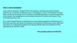 PRESENTATION: Unit 3 Introduction to Marketing - P6 M3
