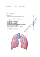 LECTURE NOTES: Respiratory System (44 pages)