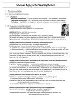 SAMENVATTING: Sociaal Agogische Vaardigheden
