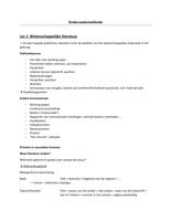 SAMENVATTING: Samenvatting Onderzoeksmethoden (TEW en HI)
