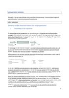 SAMENVATTING: Samenvatting financieel beheer