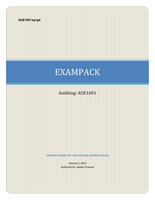 Exam: AUE1601 Exam pack