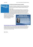 ESSAY: Unit 16 Human Resource Management: P3, M2, D1