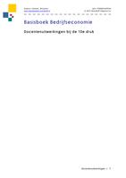 Answers: Basisboek bedrijfseconomie 10e druk antwoorden docenten uitwerking