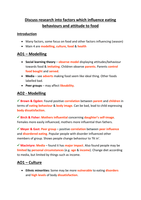 psya eating behaviour essay plans stuvia discuss research into factors which influence eating behaviors and attitude to food essay plan this is an essay plan for the essay title discuss research