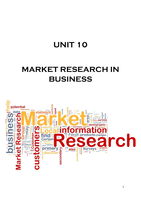 ESSAY: UNIT 10 - MARKET RESEARCH IN BUSINESS - P1,P2