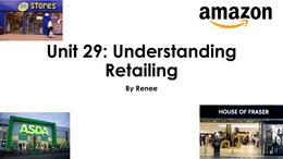unit 29 understanding retailing