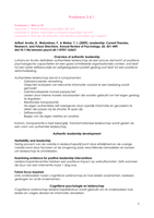 SUMMARY: Artikelen blok 3.4 leiderschap en coaching