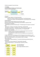 ZUSAMMENFASSUNG: Produktionsmanagement Zusammenfassung