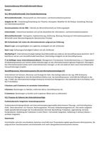 ZUSAMMENFASSUNG: Wirtschaftsinformatik Zusammenfassung