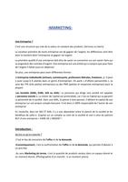 NOTES DE COURS: Marketing - Généralités et Stratégies.