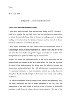 Examen: Written Assignment 4 - Lessons from the classroom
