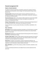SUMMARY: Financial management 214 - Summary