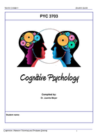 LECTURE NOTES: PYC 3703 Cognitive Psychology Study Notes