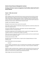 SAMENVATTING: Summary seminar HRM, book Purcell and Boxall 4th edition