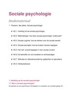 SAMENVATTING: Sociale Psychologie 1