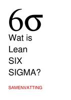 SUMMARY: Wat is Lean Six Sigma