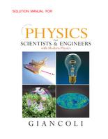 Antwoorden: oplossingen boek 1 en 2 Fysica (Natuurkunde van Giancoli)