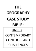 SUMMARY: Unit 3 - Conflict Case Study Notes