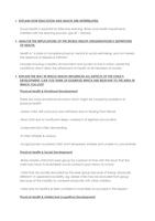 SUMMARY: Health Education HEC101V Exam Notes Summary