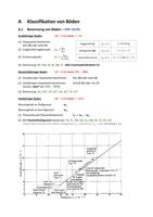 ZUSAMMENFASSUNG: A - Klassifikation von Böden